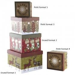 Boite de Noël carrée en carton